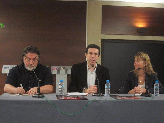 M.Valdivieso (Jonc), O.Esculies (Projecte Home) y S.Algarra (La Caixa)