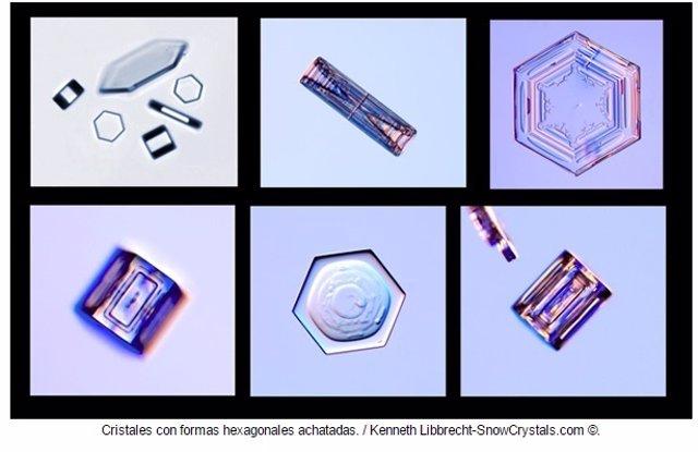 Estructura de los copos de nieve varía en función de la humedad y la temperatura