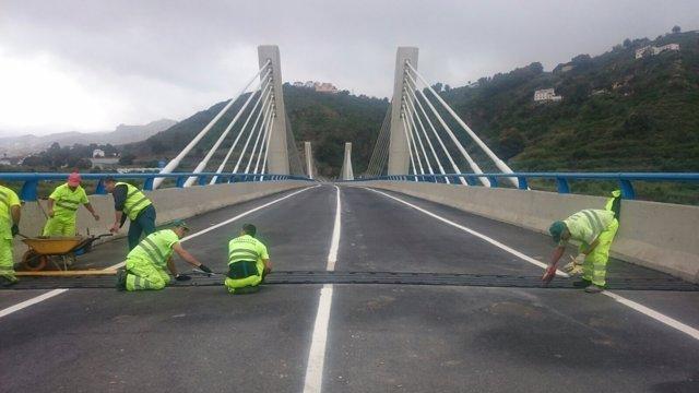 Las dos juntas presentaban problemas de sujeción de este viaducto