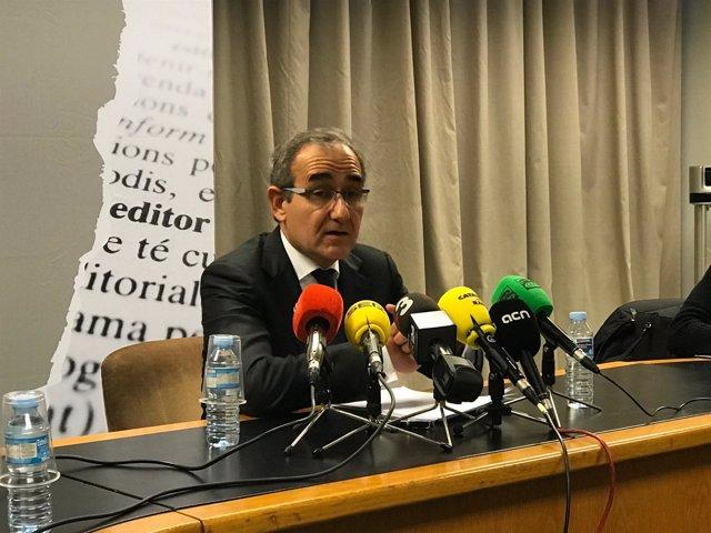 El presidente del Gremi d'Editors de Catalunya, Patrici Tixis