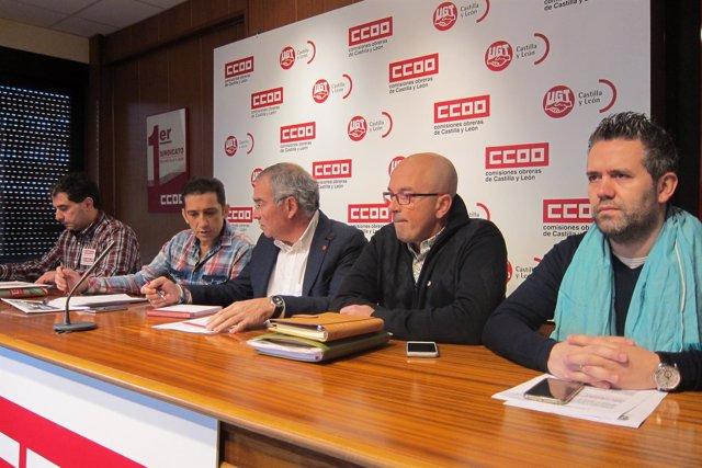 Representantes de UGT y CCOO presentas las medidas