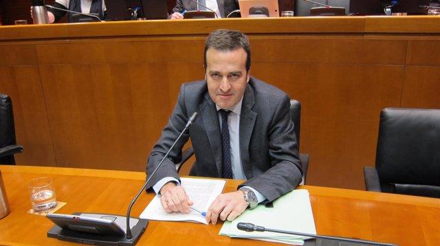 El director general de Presupuestos, Manuel Galochino, hoy en las Cortes