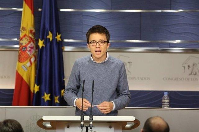 Iñigo Errejón, en rueda de prensa