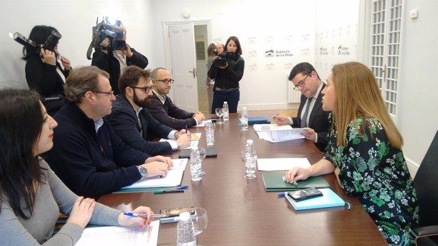 Reunión Ciudadanos con el Gobierno de La Rioja
