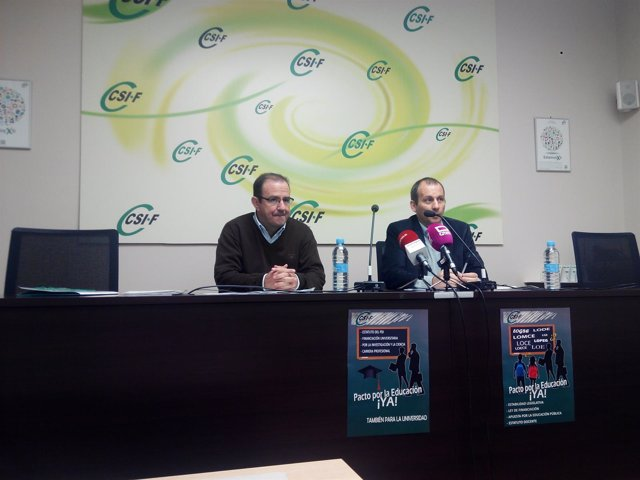Ramón Caballero y Mario Gutiérrez de CSIF