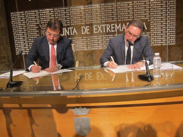 Fernández Vara y Jaume Giró