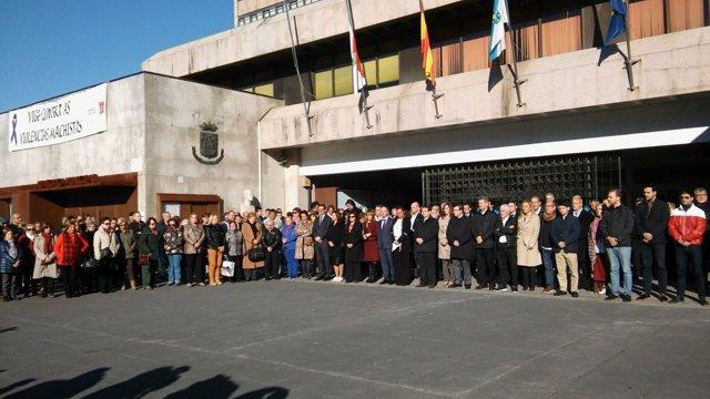 Concentración repulsa violencia de género en Vigo