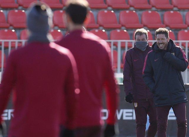 Diego Pablo Simeone Atlético entrenamiento
