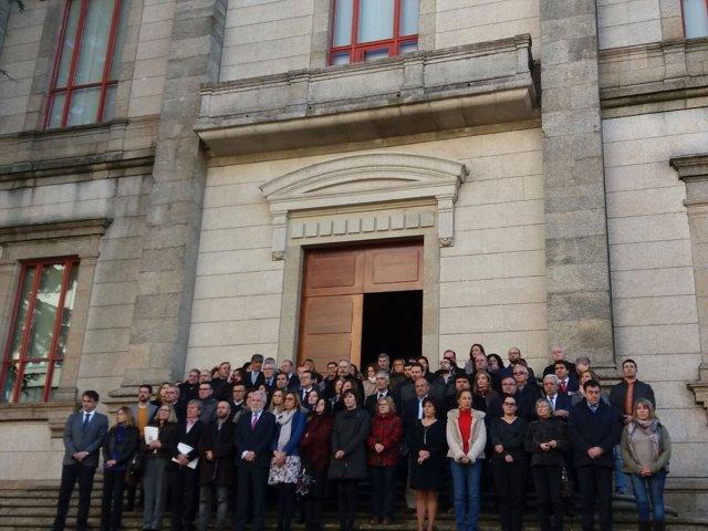 Concentración Parlamento de Galicia por los asesinatos machistas