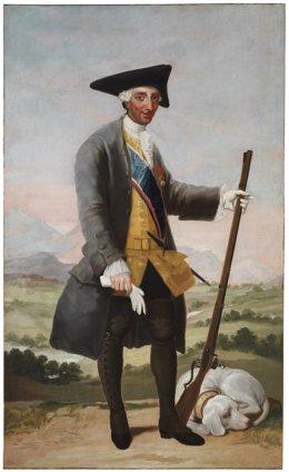 Carlos III, cazador, de Francisco de Goya