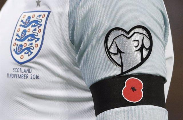 Amapola selección inglesa Inglaterra