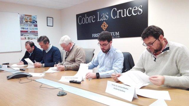 Convenio de Cobre Las Cruces con los municipios sevillanios