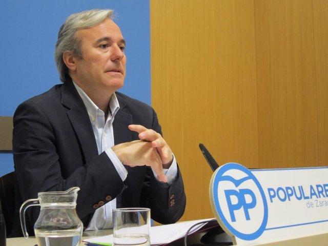 El portavoz del grupo municipal del PP en el Ayuntamiento, Jorge Azcón.