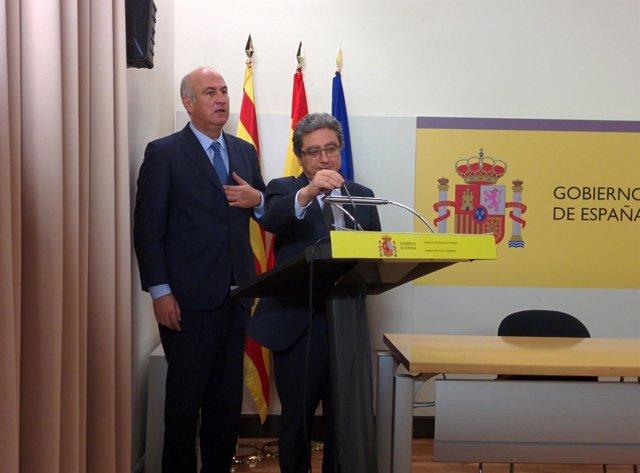 El secretario de Estado de Cultura, F.Benzo, y el delegado del Gobierno E.Millo