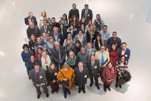 Algunos de los participantes en el Congreso Internacional sobre Cervantes