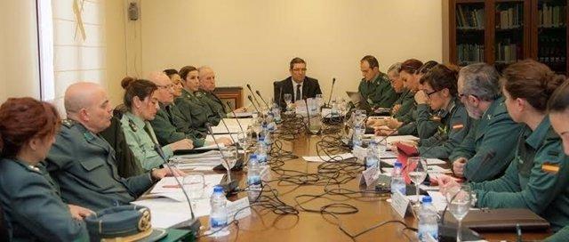 José Manuel Holgado preside una reunión para la igualdad en la Guardia Civil