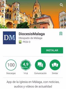 Aplicación móvil diócesis de málaga