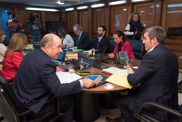 Reunión del Consejo de Gobierno celebrada hoy en Las Palmas de Gran Canaria