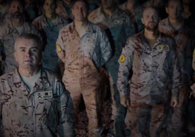 Felicitación de los soldados españoles desde Irak