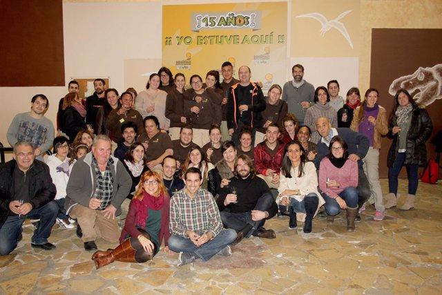 Foto de familia del fin de temporada de Dinópolis 2016