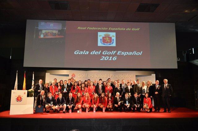 Premiados en la Gala del Golf 2016