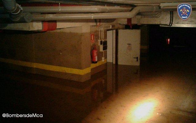 Sótano inundado en Campos