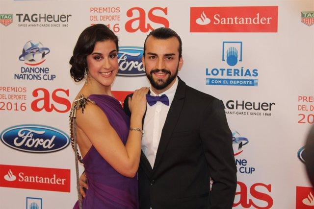 Carolina Marín y su pareja