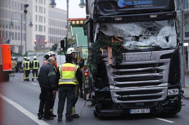 Estado del camión que se precipitó contra un mercado navideño en Berlín