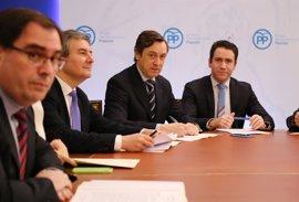 Diputados del PP por Murcia, Alicante, Valencia y Almería se unen en el Congreso para pedir ayudas