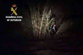 Auxilian a un hombre de 42 años atrapado en un cañaveral en Pulpí por las lluvias