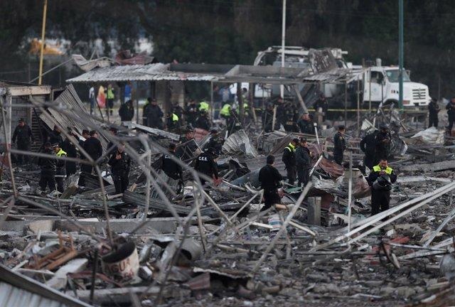 Explosión en mercado en México