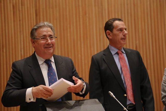 Juan Ignacio Zoido y Rafael Merino