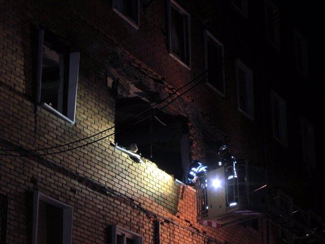 Imagen del edificio afectado por la deflagración