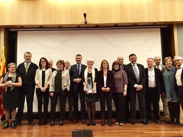 El conseller Santi Vila entrega el premio Robèrt Lafont
