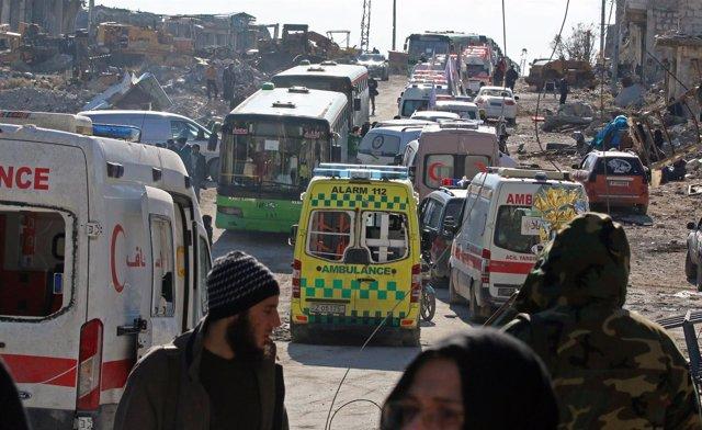 Evacuación en Alepo