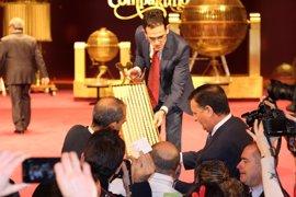 El 59.444, agraciado con el primer cuarto premio, vendido en Toledo y Villamalea