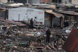 Ya son 35 los muertos por la explosión en un mercado pirotécnico de México