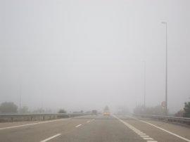Niebla en 16 tramos de carreteras de la Comunidad