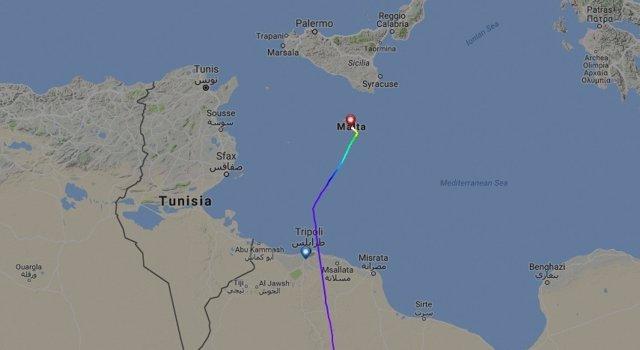Avión Malta Secuestrado