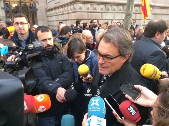 El expresidente catalán Artur Mas frente al TSJC