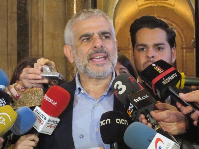 El portavoz de C's en el Parlament, Carlos Carrizosa
