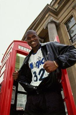 Shaquille O'Neal en Londres en 1993