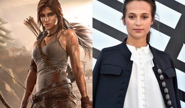 Lara Croft y Alicia Vikander