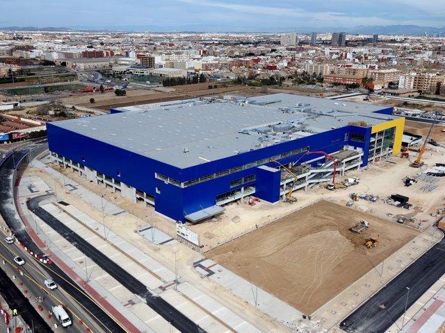 Construcción de la tienda IKEA Alfafar (Valencia).