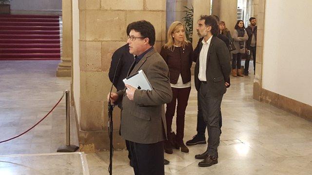 El líder de EUiA, Joan Josep Nuet