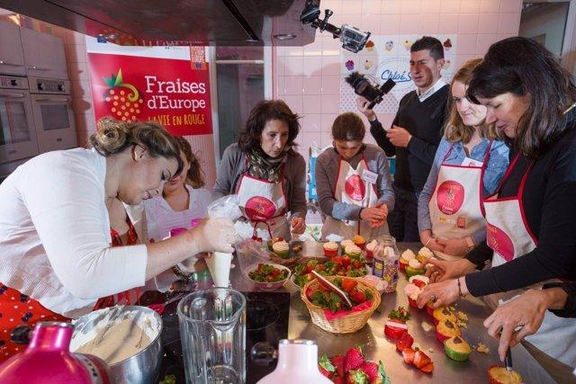 Campaña de promoción de la fresa en Francia.