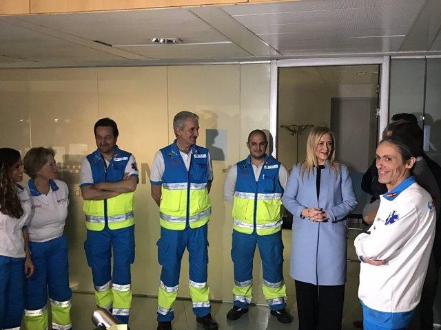 Cifuentes visita el centro de emergencias 112