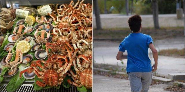 El marisco provoca muchas alergias, y algunos alimentos reaccionan al ejercicio
