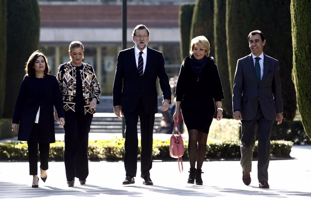 Santamaría, Cifuentes, Rajoy, Aguirre y Fernando Martínez Maillo