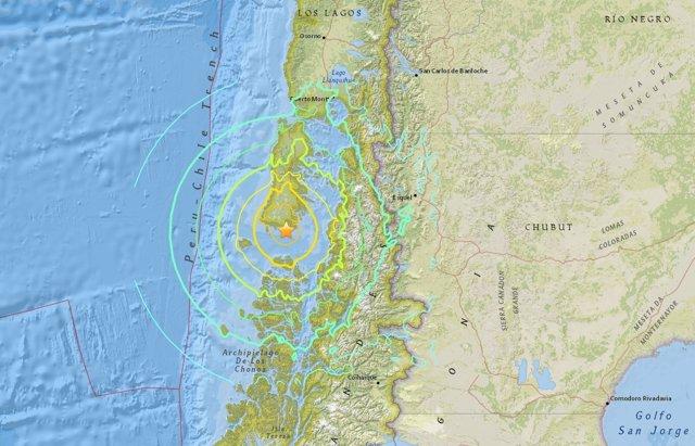 Terremoto de 7,7 registrado en el sur de Chile